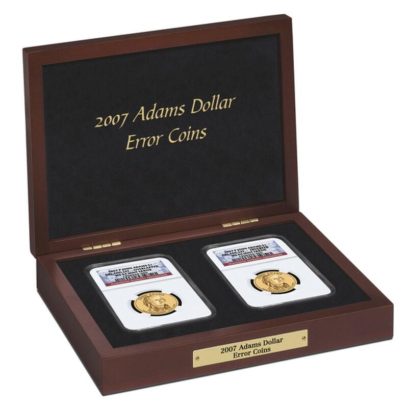 2007 adams dollar error coins UK ADEC b two