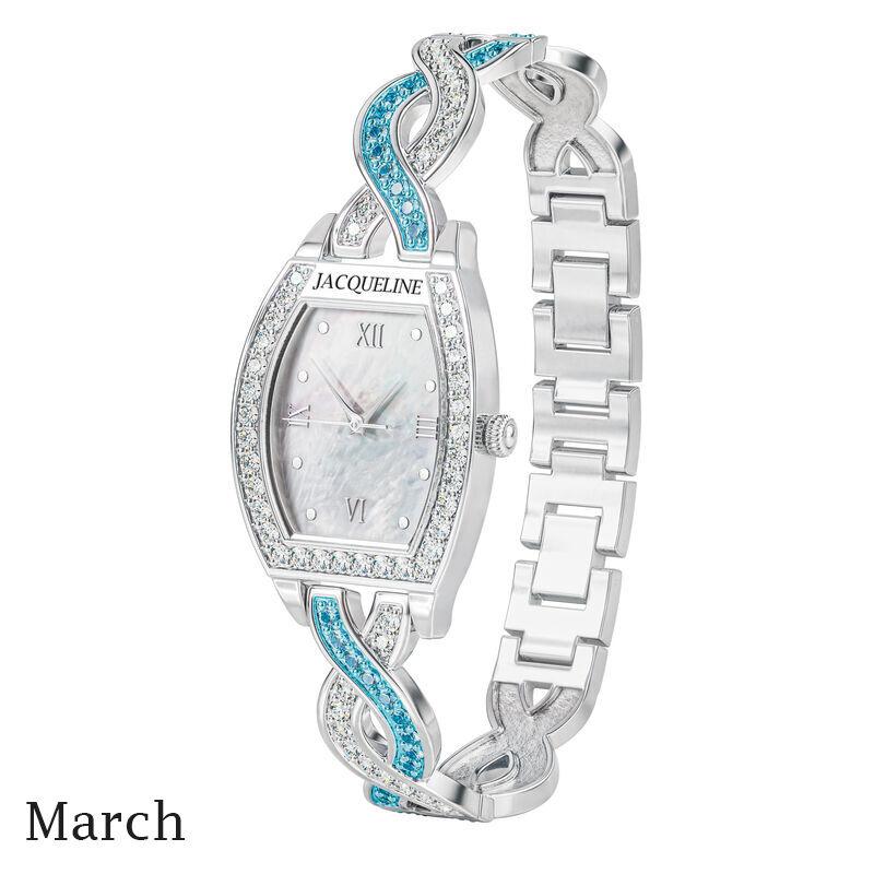 birthstone swirl bracelet watch UK BSWB c march