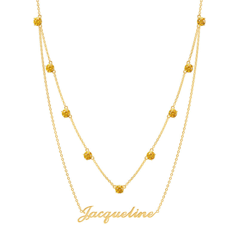 The Birthstone Layered Necklace 6788 001 3 11