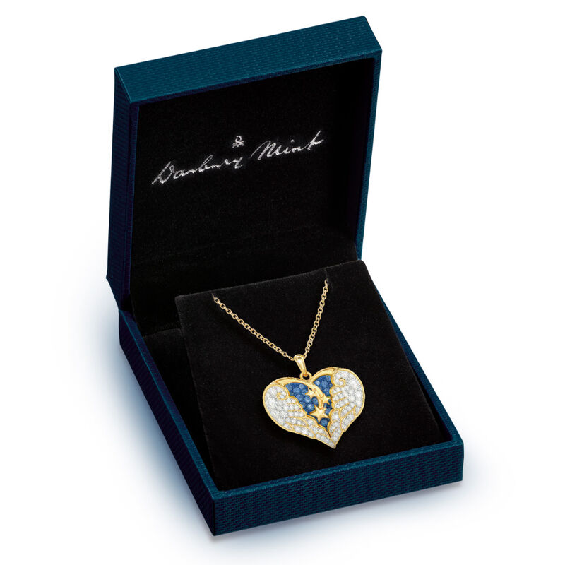 on angel wings remembrance pendant UK OAWP b two