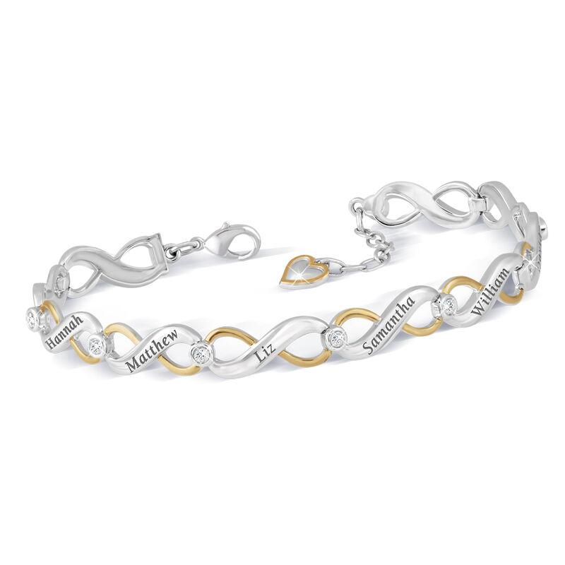 family forever personalised diamond brac UK FFPDB a main