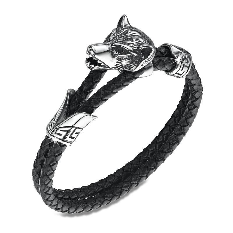 winter wolf leather bracelet UK WWLB2 a main