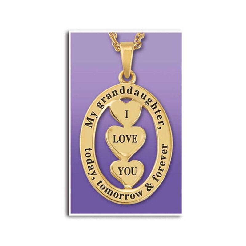 my granddaughter i love you diamond pend UK LYGDP2 b two