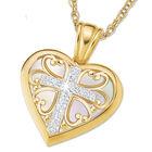 my blessed daughter diamond cross pendan UK BLDACP a main