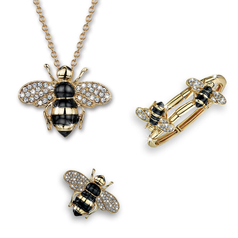 busy bee crystal jewellery set UK BBCJS a main