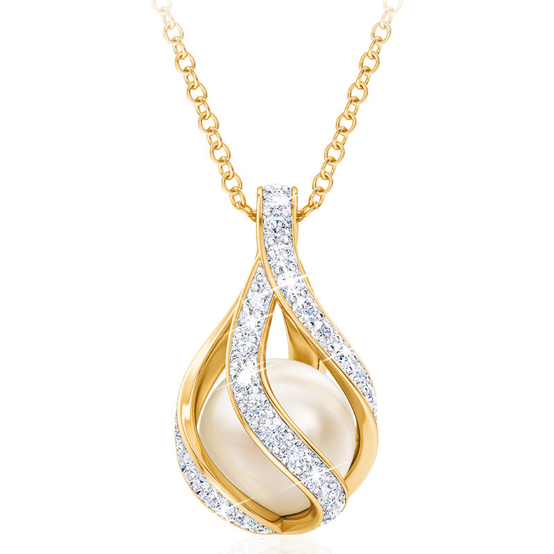 loves embrace pearl diamond pendant UK LEPDP a main