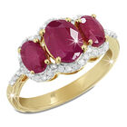 mozambique ruby diamond 14ct gold ring UK MRDR a main
