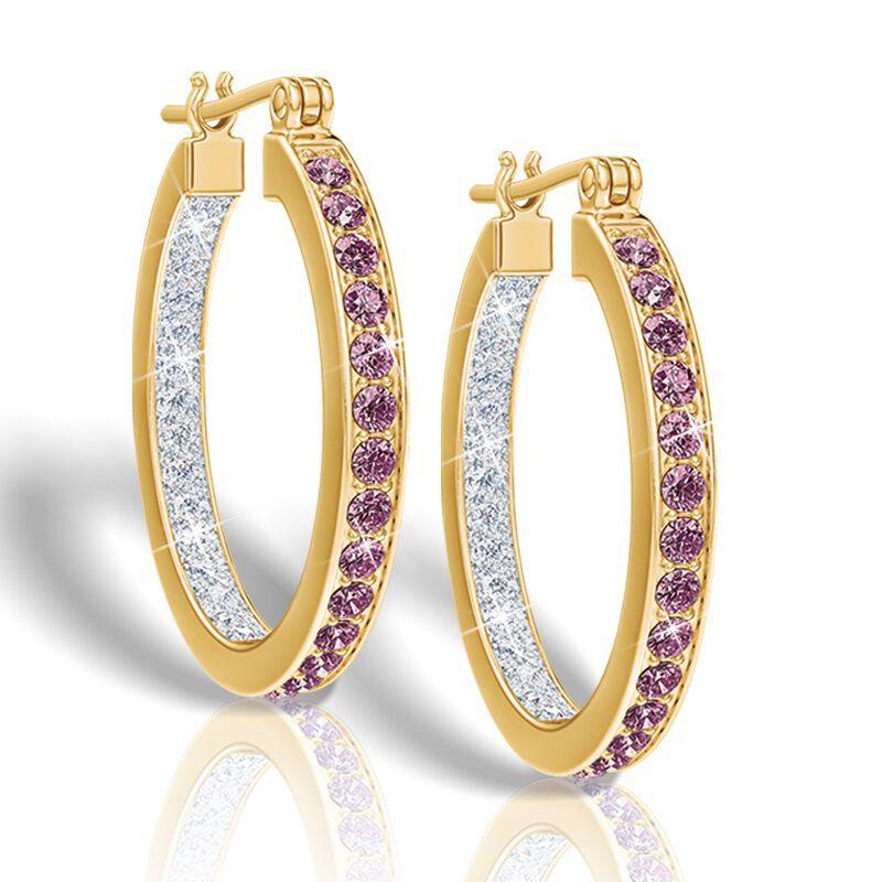 birthstone diamond inside out hoop earri UK BIOHR b two