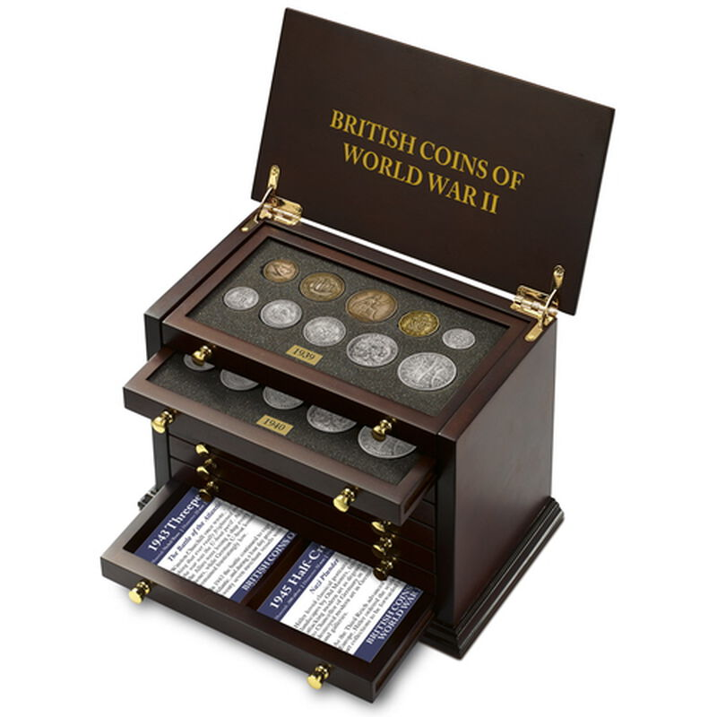 british coins of world war ii UK WW2CR c three