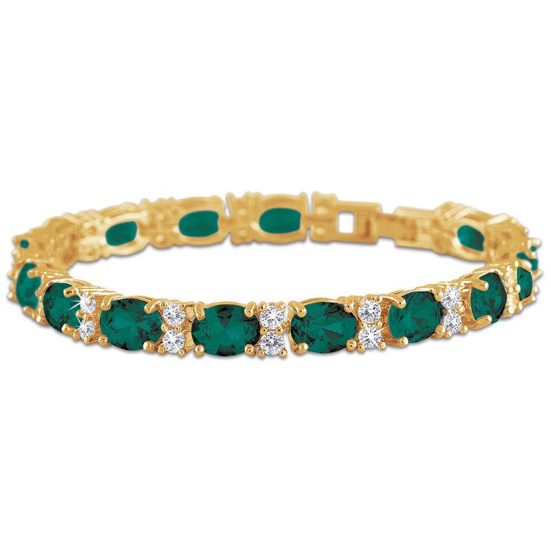 birthstone tennis bracelet UK BDTB2 f six