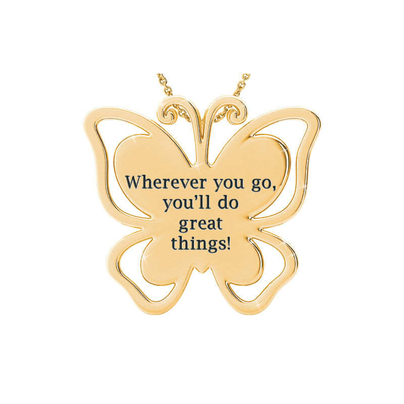 granddaughter butterfly pendant UK GDBP b two