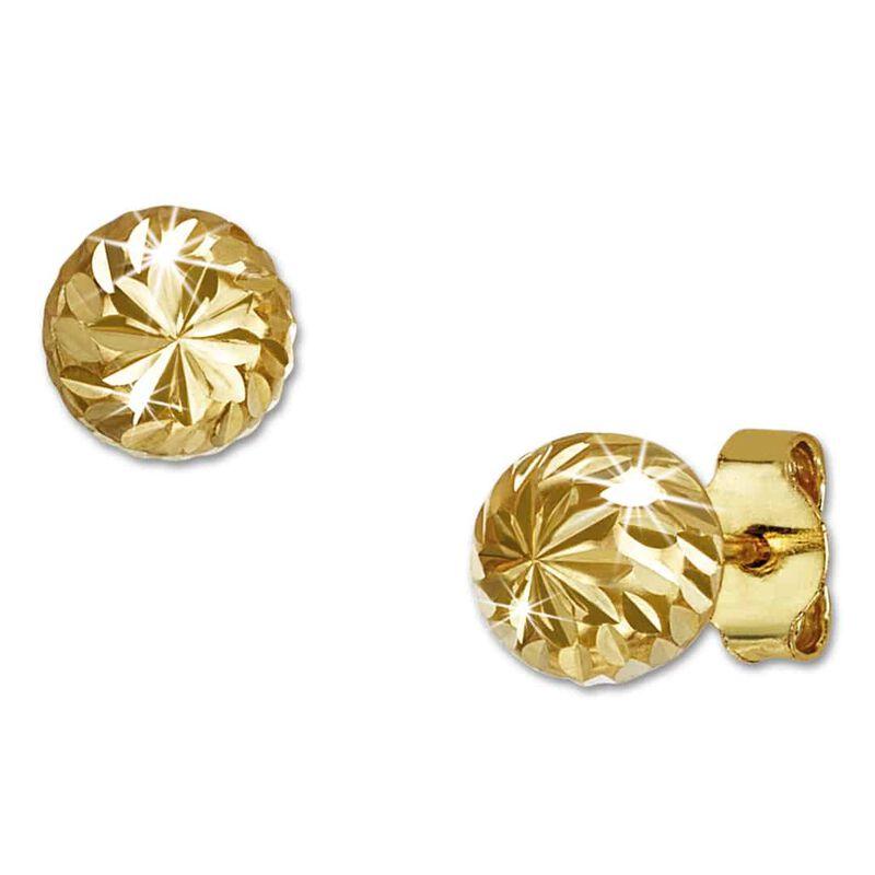 diamond cut 9ct gold studs UK DCGS a main