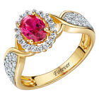 beautiful romance ring with created ruby UK LGRR a main