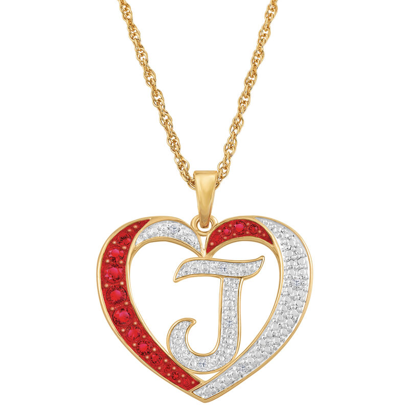 diamond initial heart pendant UK DINHP a main