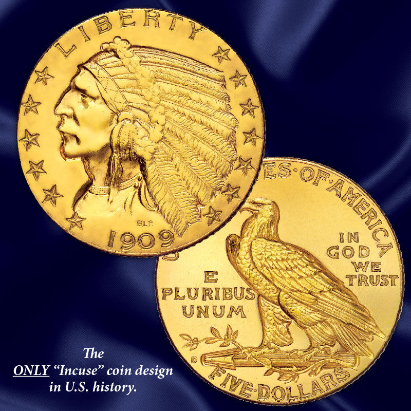 the u s indian head gold coin collection UK GHI e five