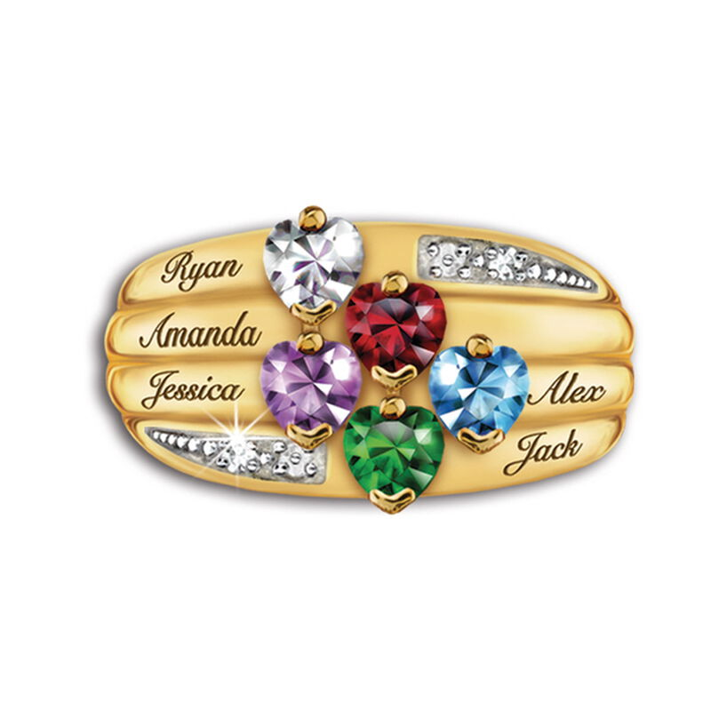 our family birthstone and diamond ring UK FAMRI e five