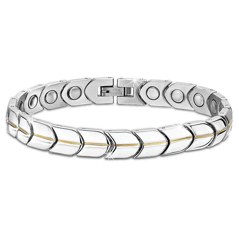mens stainless steel shield bracelet UK MSSSB a main