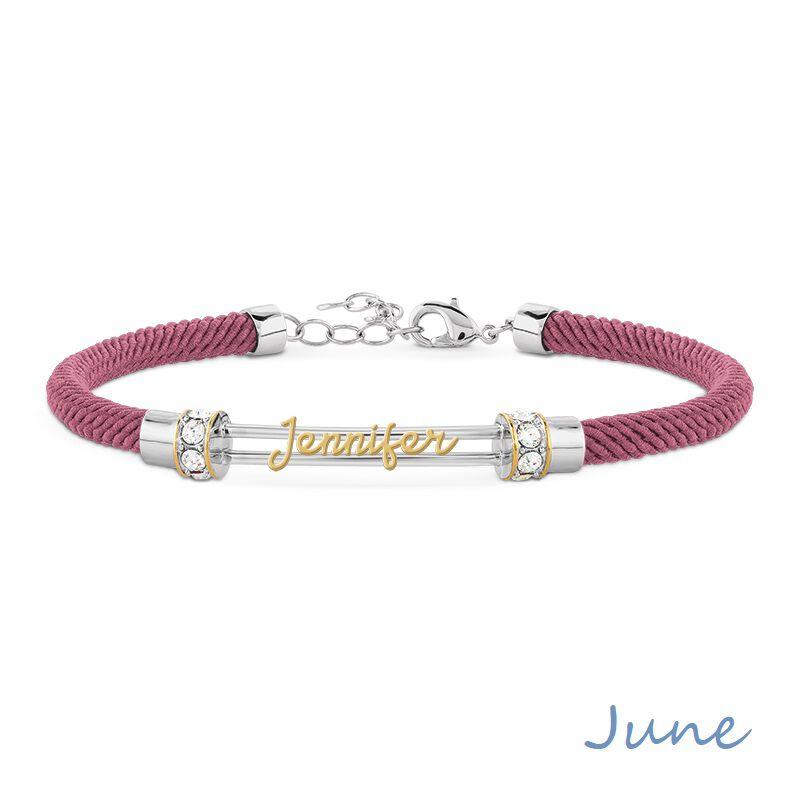 personalised birthstone rope bracelet UK PBRB2 g seven