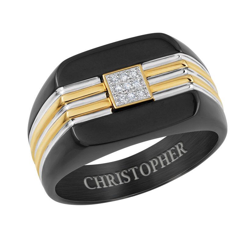 mens seal of approval diamond ring UK MSADR a main