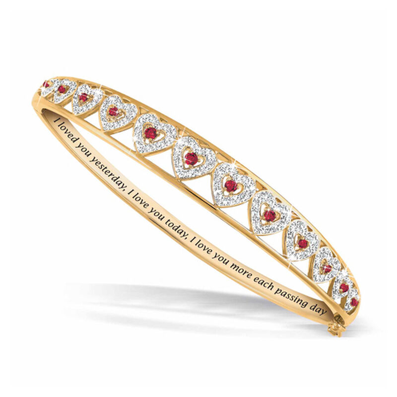 i love you ruby diamond bangle UK LYRDB a main