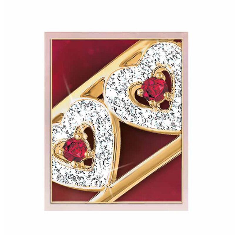 i love you ruby diamond bangle UK LYRDB c three