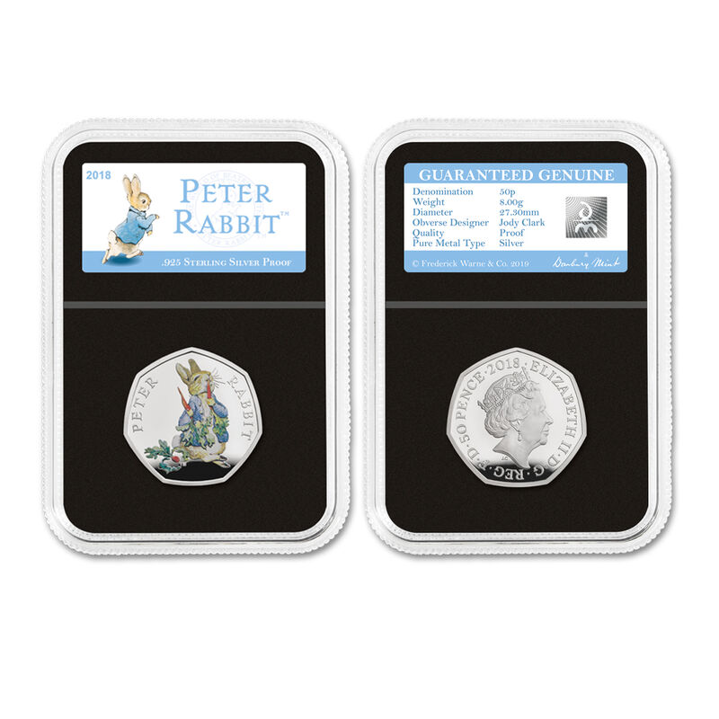 the 2018 beatrix potter silver proof set UK BP18P b two