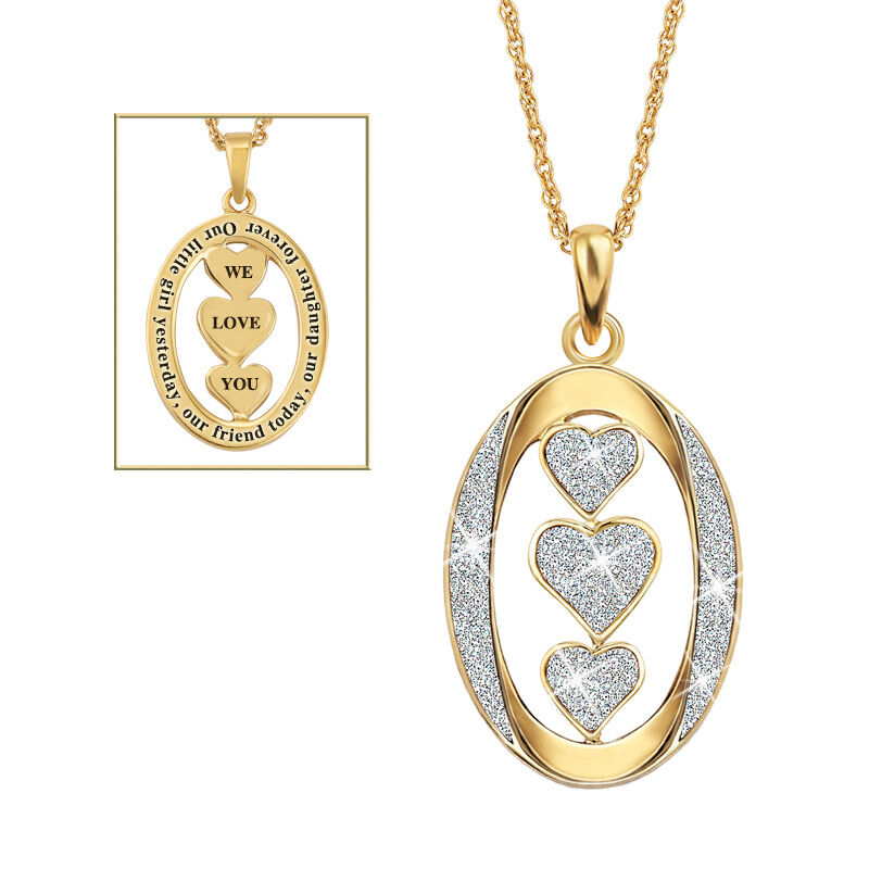 our daughter we love you diamond pendant UK OLDDP a main