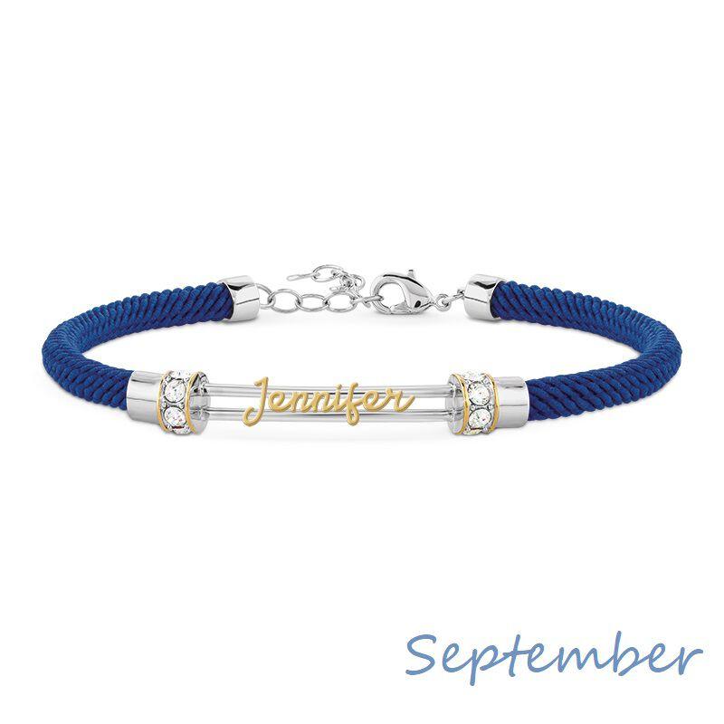 personalised birthstone rope bracelet UK PBRB2 j ten