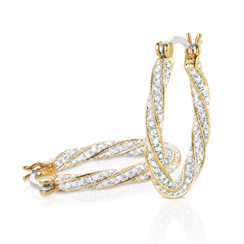 dazzling diamond swirl hoops UK DDSH a main