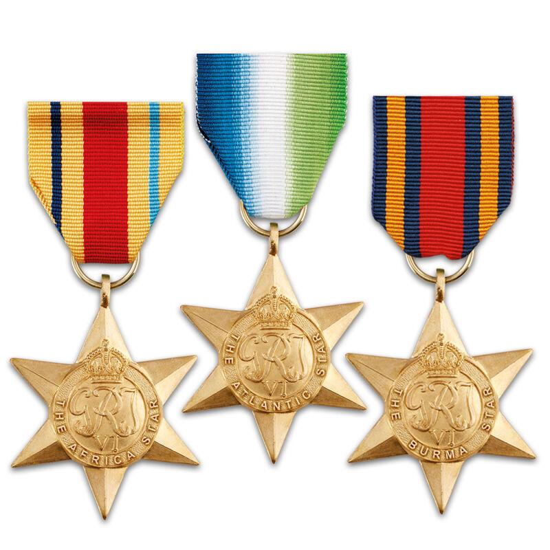 the world war ii campaign stars UK MILM b two