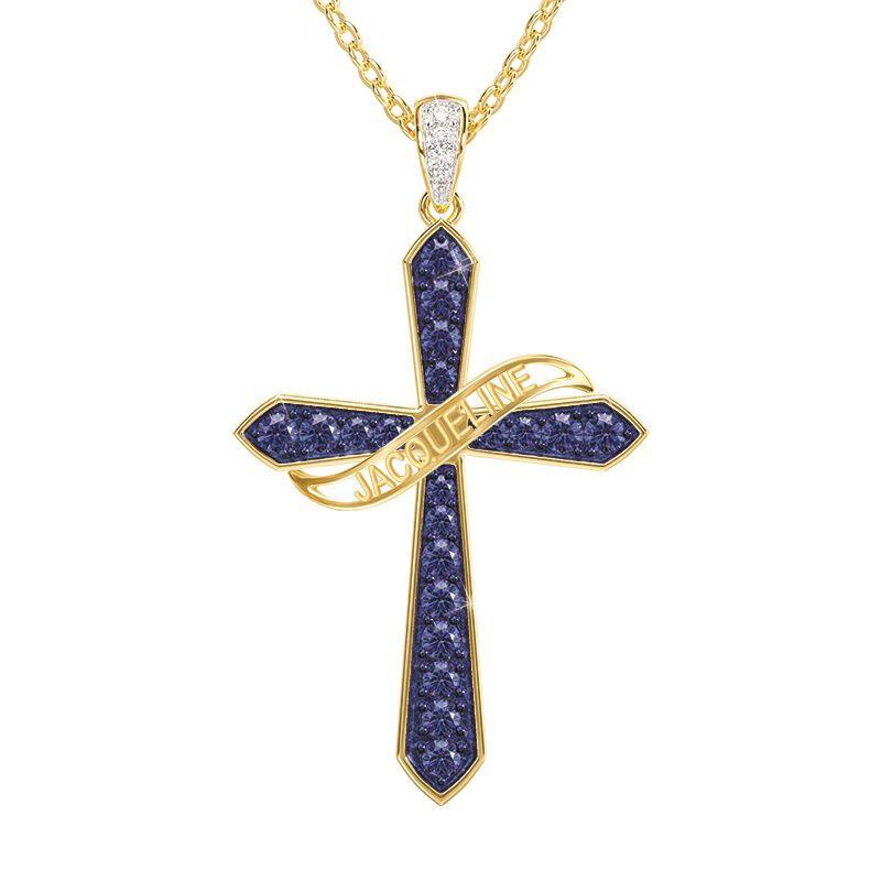 birthstone diamond personalised cross ne UK BSPCN j ten
