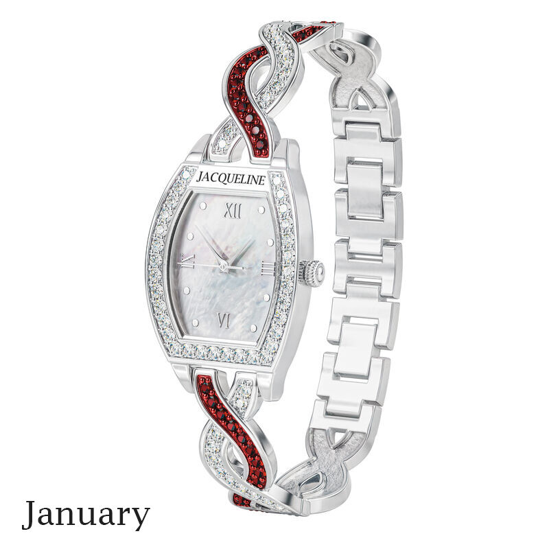 birthstone swirl bracelet watch UK BSWB a january
