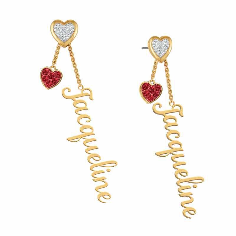 personalised birthstone earrings UK PBEAR h eight