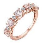 morganite 9ct rose gold eternity ring UK MGER a main