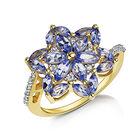 tanzanite rosette ring UK TROR2 a main
