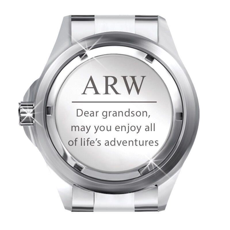 grandson personalised adventurer watch UK GPAW b two