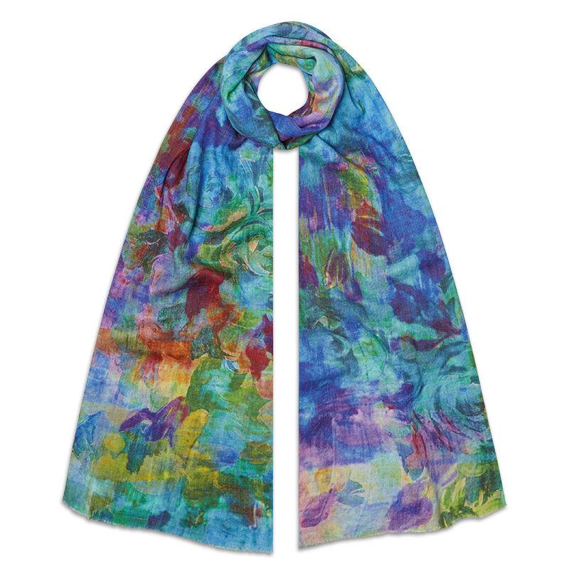 waterlilies cashmere scarf UK WLLSC a main