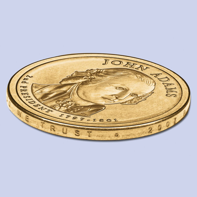 2007 adams dollar error coins UK ADEC e five