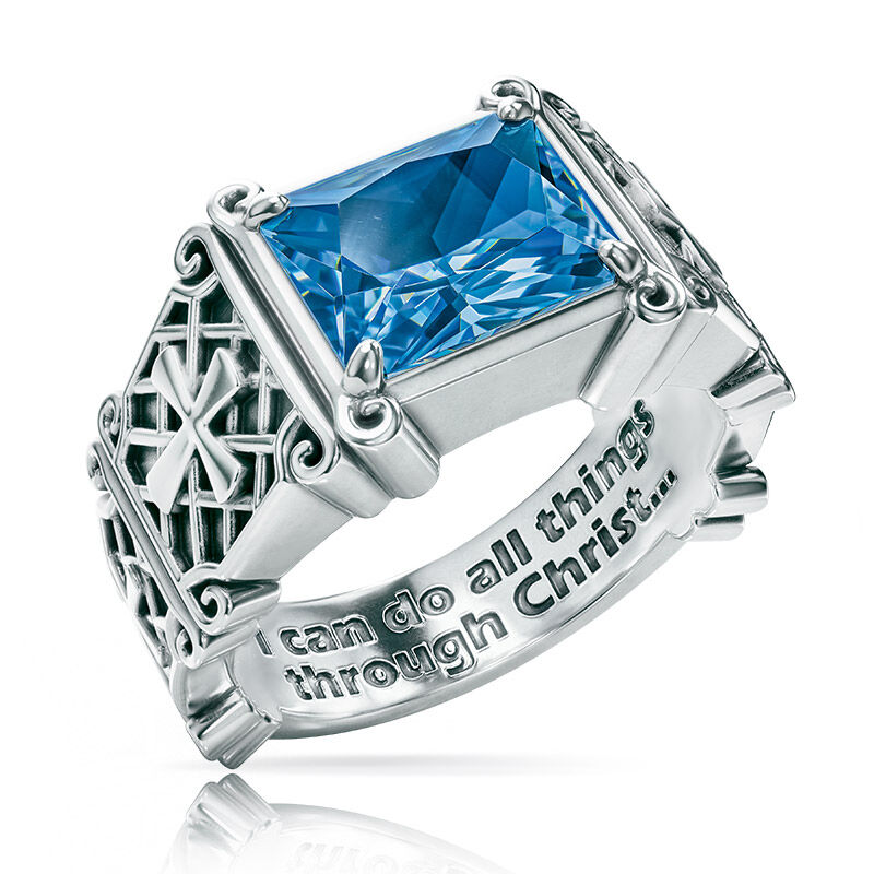 i can do all things birthstone ring UK ICDBR l twelve