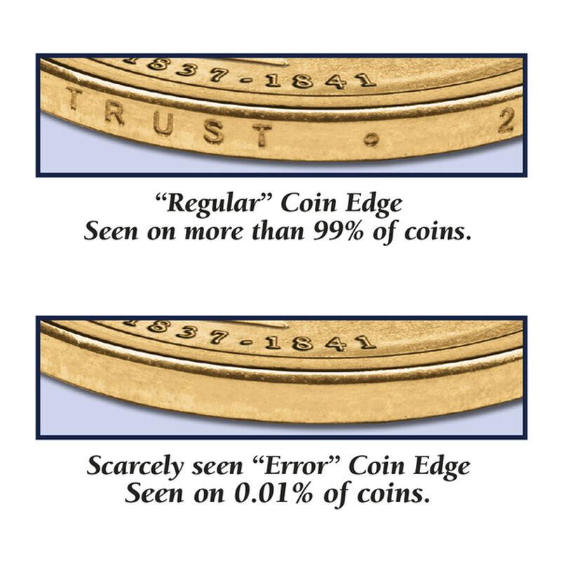 the last godless dollar error coin UK LGDEC c three