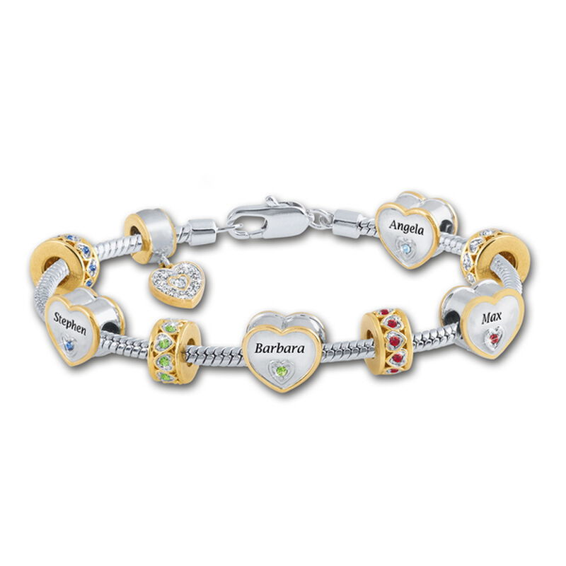 mums personalised charm bracelet UK MPCB a main