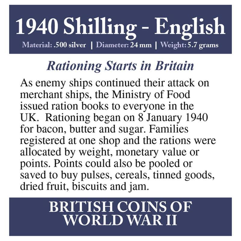 british coins of world war ii UK WW2CR f six