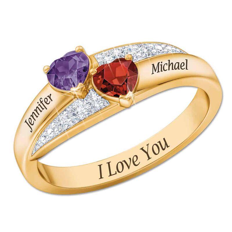 two hearts birthstone diamond ring UK THBDR a main