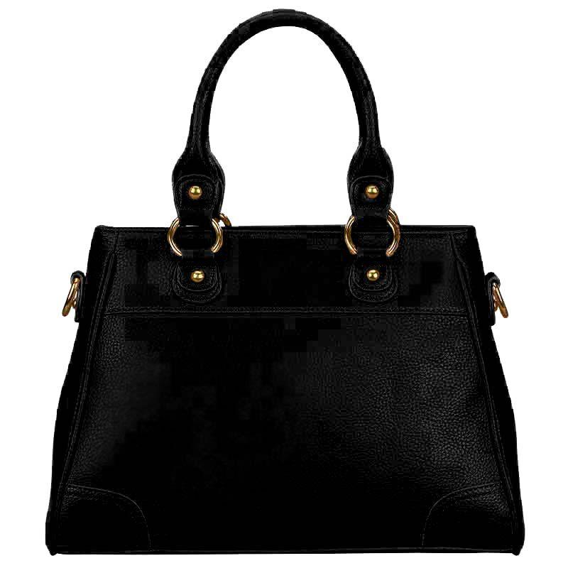 personalised initials black handbag UK IPBB d four