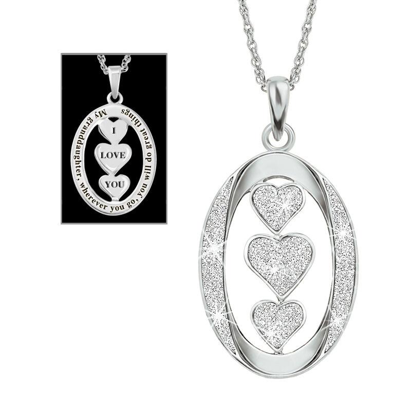 granddaughter i love you diamond pendant UK SGLDP a main
