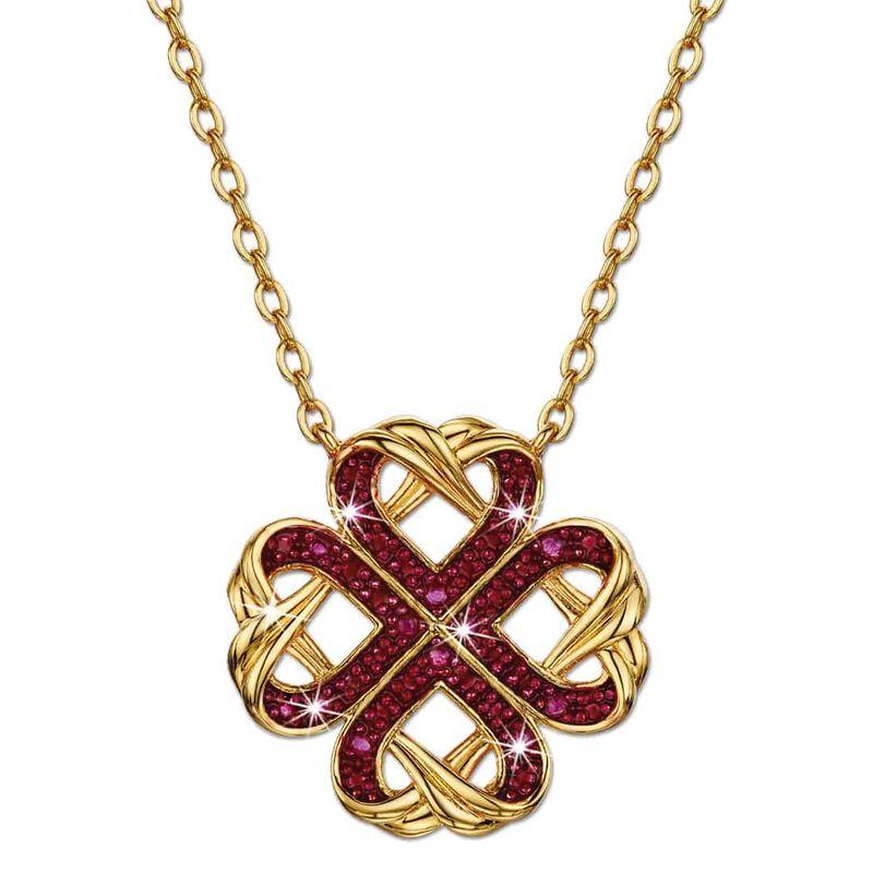 a dozen rubies love knot pendant UK DRLKP a main