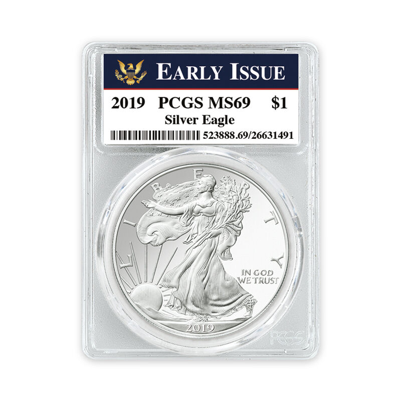 the 2019 uncirculated american eagle sil UK U19D d four