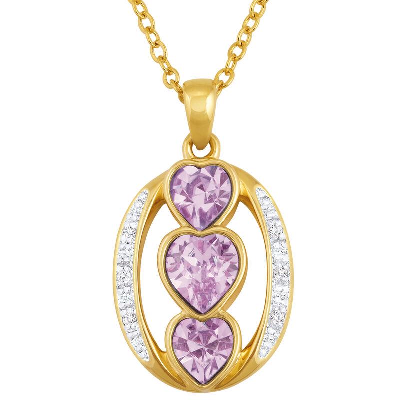i love you birthstone pendant UK ILYBP2 f six