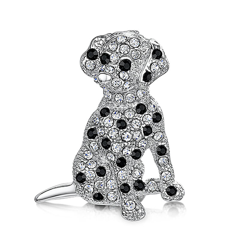 dalmatian puppy crystal brooch UK DPCB a main