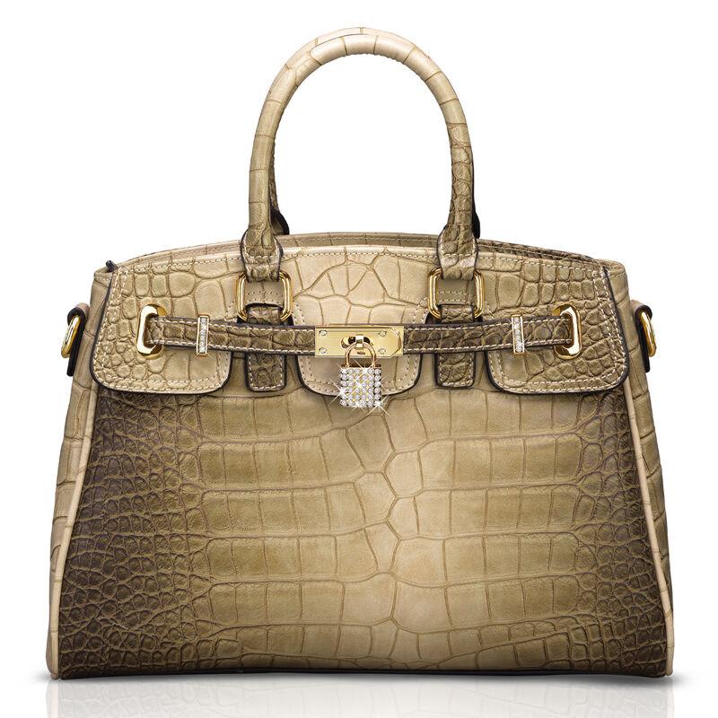 crocodile style handbag UK CSH a main